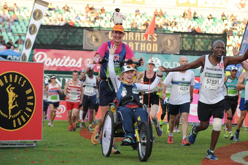 Anita Engelbrecht and inclusion in the Comrades